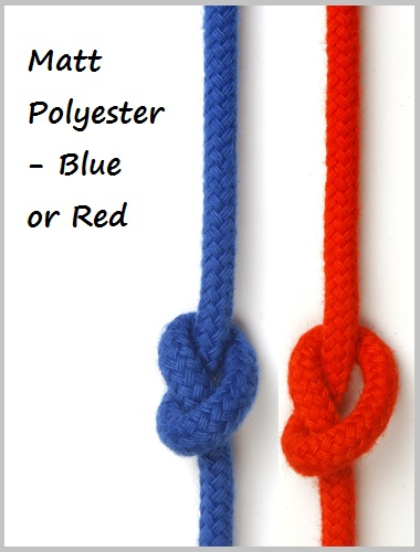 6mm - Matt Polyester (red or blue)